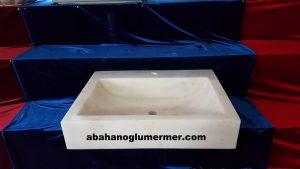 afyon beyaz mermer lavabo